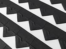 Fotorožky do fotoalbumov / 42 ks (čierne)