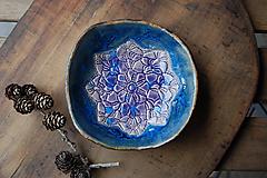 Nádoby - Keramická misulienka (Modrá) - 11673780_