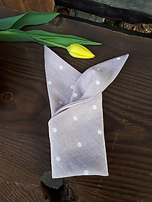 Úžitkový textil - Ľanový obrúsok Sweet Dots - 11675280_