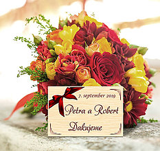 Darčeky pre svadobčanov - Svadobná magnetka - 11677224_