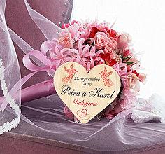 Darčeky pre svadobčanov - Svadobná magnetka - 11677227_