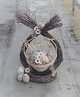 Veľkonočná dekorácia z brezového prútia
