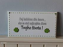 Tabuľky - Najkrajší deň Tvojho života... 🍀 v bielom - 11676457_