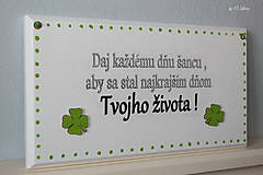 Tabuľky - Najkrajší deň Tvojho života... 🍀 v bielom - 11676458_