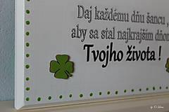 Tabuľky - Najkrajší deň Tvojho života... 🍀 v bielom - 11676459_