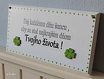 Tabuľky - Najkrajší deň Tvojho života... 🍀 v bielom - 11676460_