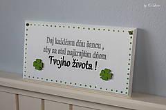 Tabuľky - Najkrajší deň Tvojho života... 🍀 v bielom - 11676463_