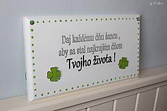 Tabuľky - Najkrajší deň Tvojho života... 🍀 v bielom - 11676464_
