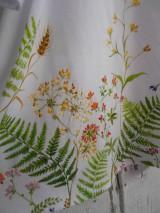 """Šaty - Maľované ľanové šaty """" Lúčne """"  (Detské maľované lúčne šaty) - 11678453_"""