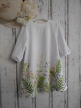 """Šaty - Maľované ľanové šaty """" Lúčne """"  (Detské maľované lúčne šaty) - 11678455_"""