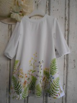 """Šaty - Maľované ľanové šaty """" Lúčne """"  (Detské maľované lúčne šaty) - 11678456_"""