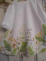 """Šaty - Maľované ľanové šaty """" Lúčne """"  (Detské maľované lúčne šaty) - 11678465_"""