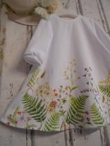 """Šaty - Maľované ľanové šaty """" Lúčne """"  (Detské maľované lúčne šaty) - 11678466_"""