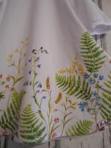 """Šaty - Maľované ľanové šaty """" Lúčne """"  (Detské maľované lúčne šaty) - 11678468_"""