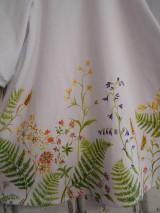"""Šaty - Maľované ľanové šaty """" Lúčne """"  (Detské maľované lúčne šaty) - 11678469_"""
