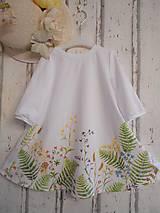 """Šaty - Maľované ľanové šaty """" Lúčne """"  (Detské maľované lúčne šaty) - 11678497_"""