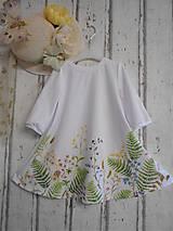 """Šaty - Maľované ľanové šaty """" Lúčne """"  (Detské maľované lúčne šaty) - 11678499_"""