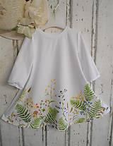 """Šaty - Maľované ľanové šaty """" Lúčne """"  (Detské maľované lúčne šaty) - 11678500_"""