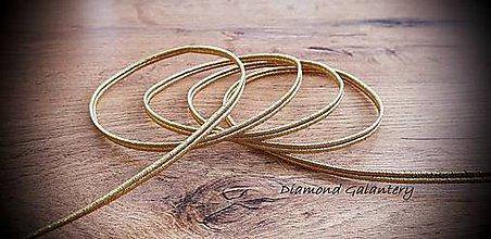 Galantéria - Sutaška mm -S kovovým vláknom (4 mm - Zlatá) - 11677378_