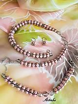 Šály - SET - hodvábny šál+náhrdelník +náramok+náušnice - 11676341_