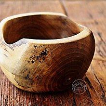 Nádoby - Drevená orechová miska Ø12-14/8 - 11677590_