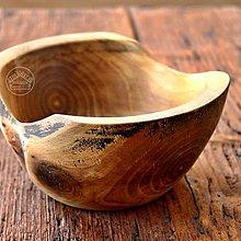 Nádoby - Drevená orechová miska Ø14-17/8 - 11677609_