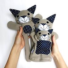 Hračky - Maňuška mačka (Rodinka Sivých zo Súhvezdnej - na objednávku) - 11675930_