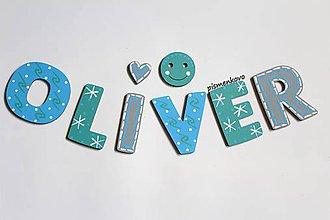 Detské doplnky - OLIVER meno pre chlapčeka - 11678604_