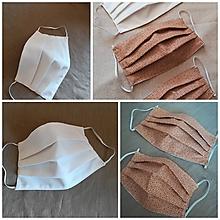 Rúška - Textilné rúško - dvojvrstvové dospelí / deti - 11677763_