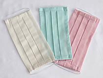 Rúška - 5x ochranné rúško - 100% organická bavlna, rôzne farby - 11677013_
