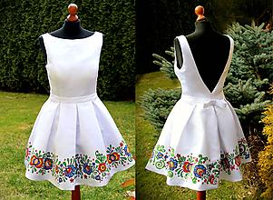 Šaty - Ručná maľba na svadobné šaty... - 11676435_