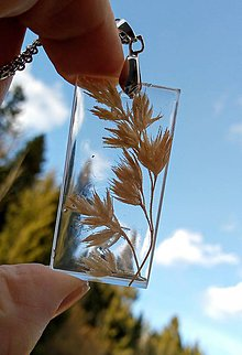 Náhrdelníky - Náhrdelník/stebielko trávy - 11677744_