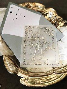 Papiernictvo - luxusné svadobné oznámenie Je to vo hviezdach + hviezdny prach - 11677648_