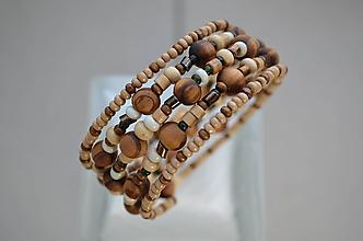 Náramky - Náramok drevený mix - 11676820_