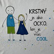 Tričká - Originálne maľované tričko pre KRSTNÚ/ KRSTNÉHO s 2 postavičkami (KRSTNÝ + dievča 5) - 11678021_