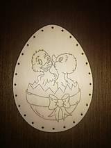 Polotovary - Dno na pletenie z pedigu - vajíčko malé - 11678605_