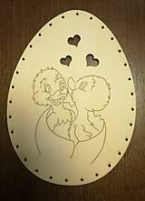 Polotovary - Dno na pletenie z pedigu - vajíčko veľké - 11678698_