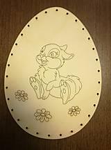 Polotovary - Dno na pletenie z pedigu - vajíčko veľké - 11678700_