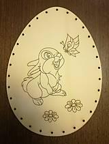 Polotovary - Dno na pletenie z pedigu - vajíčko veľké - 11678740_