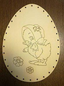 Polotovary - Dno na pletenie z pedigu - vajíčko veľké - 11678673_