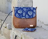 Kabelky - modrotlačová kabelka Ria hnedá 3 - 11676819_