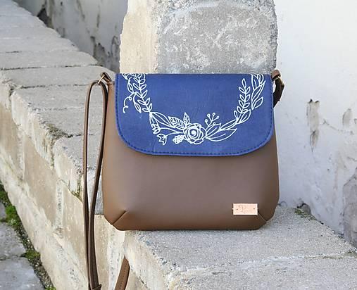 modrotlačová kabelka Ria hnedá AM2