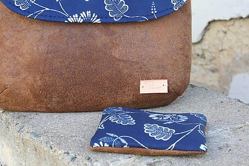 modrotlačová kabelka Ria hnedá 3
