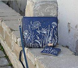Kabelky - modrotlačová kabelka Ria natur AM2 + taštička - 11676788_