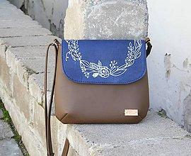 Kabelky - modrotlačová kabelka Ria hnedá AM2 - 11676806_