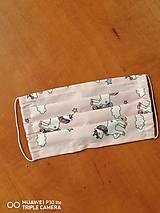 Iné doplnky - Detské rúška na tvar s gumičkou unicorn len v MODREJ (1,2 a 3 vrstvové) (3-vrstvové 14x7cm do 10r.) - 11678043_
