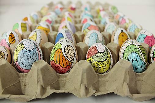 Dekorácie - lliputie vajíčko / vtáčik farebný  - 11678097_