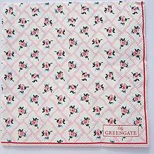 Papier - Servítka  G 74 Rita pale pink small - 11679391_