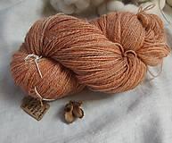 Materiál ručne robený - Ručne farbená dvojnitka zo slovenského Romney Marsh Kent - 11680417_