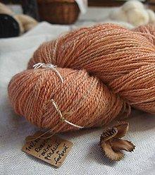 Materiál ručne robený - Ručne farbená dvojnitka zo slovenského Romney Marsh Kent - 11680415_